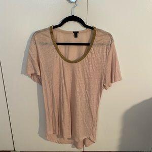 j.Crew Pink Long Flowy T-Shirt